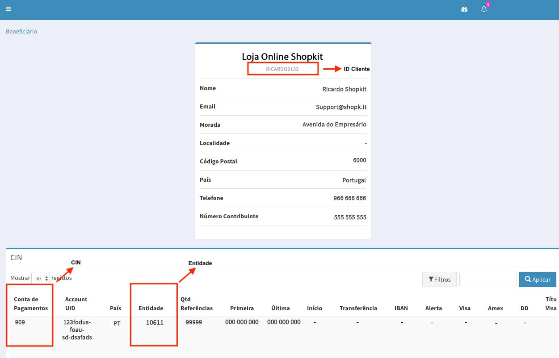 Configuração Easypay