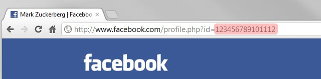 Obter username do Facebook