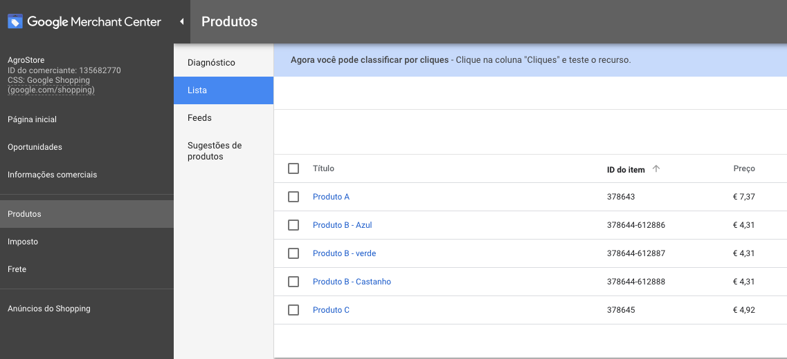 Configurar Google Shopping
