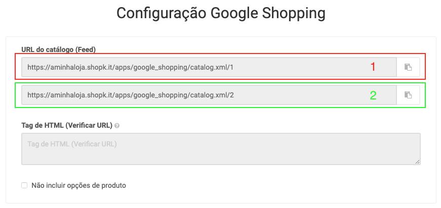 Configurar Google Shopping