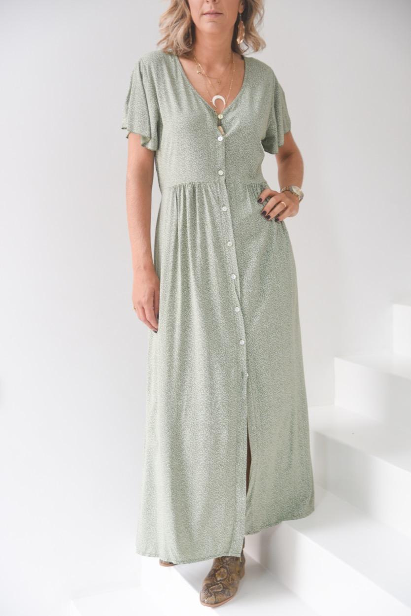 vestido florinhas comprido