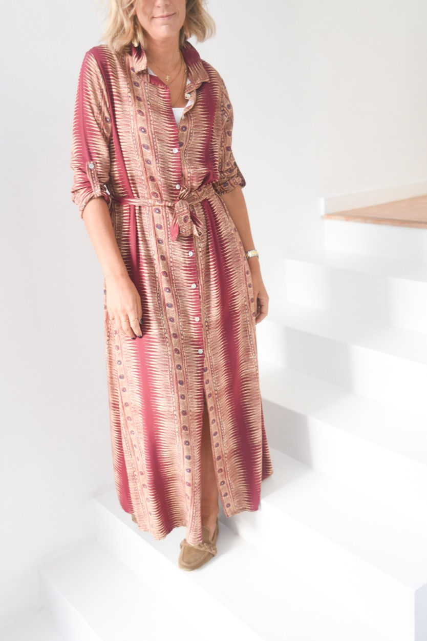 vestido etnico comprido