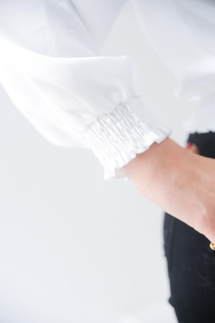 blusa traçada elastico cintura