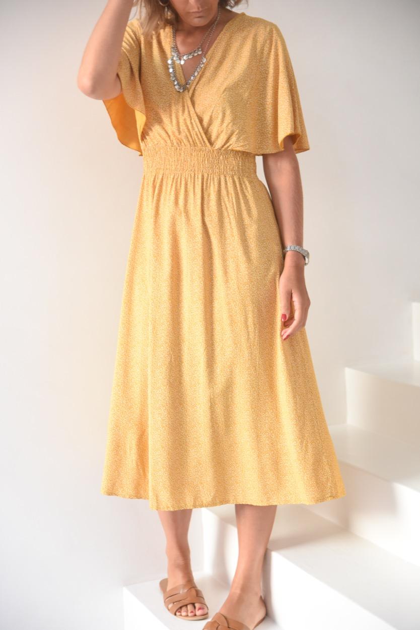 vestido mostrada florinhas