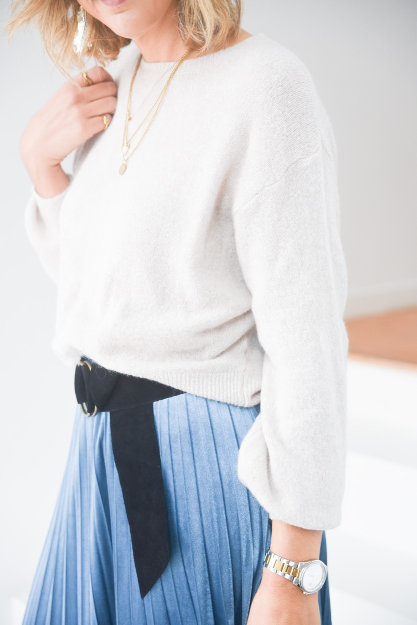 camisola cru decote redondo