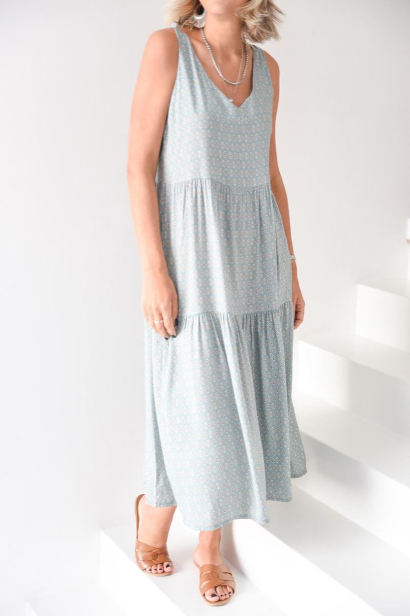 vestido comprido 2 losangulos