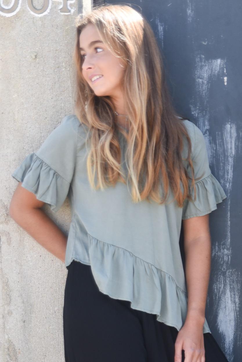 blusa folho vies