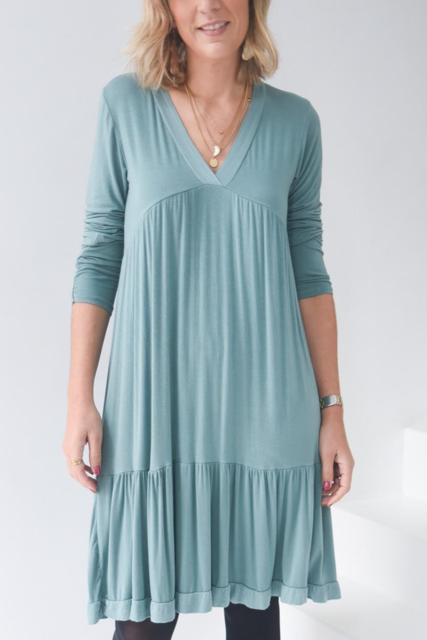 vestido corte peito