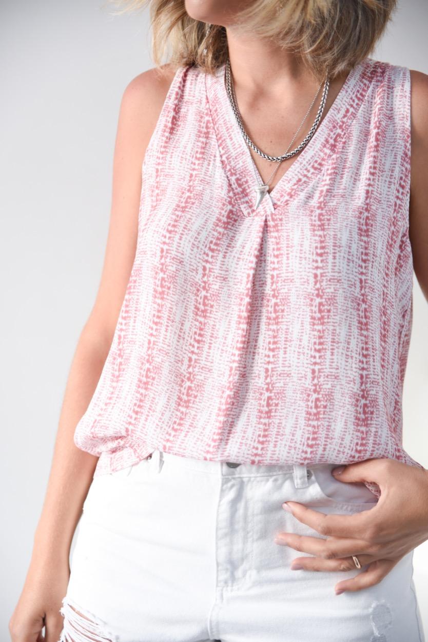 blusa cavas rosa efeito jeans