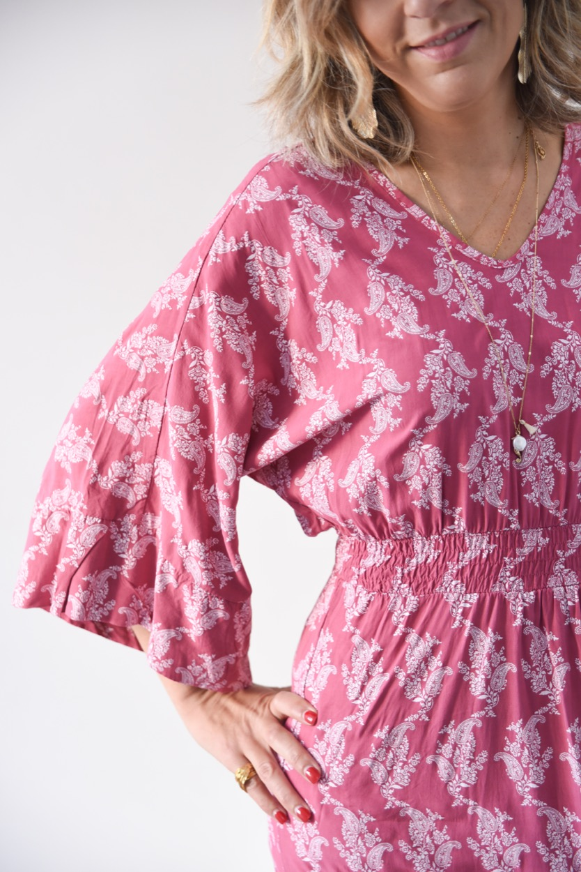 vestido rosa cornucopias