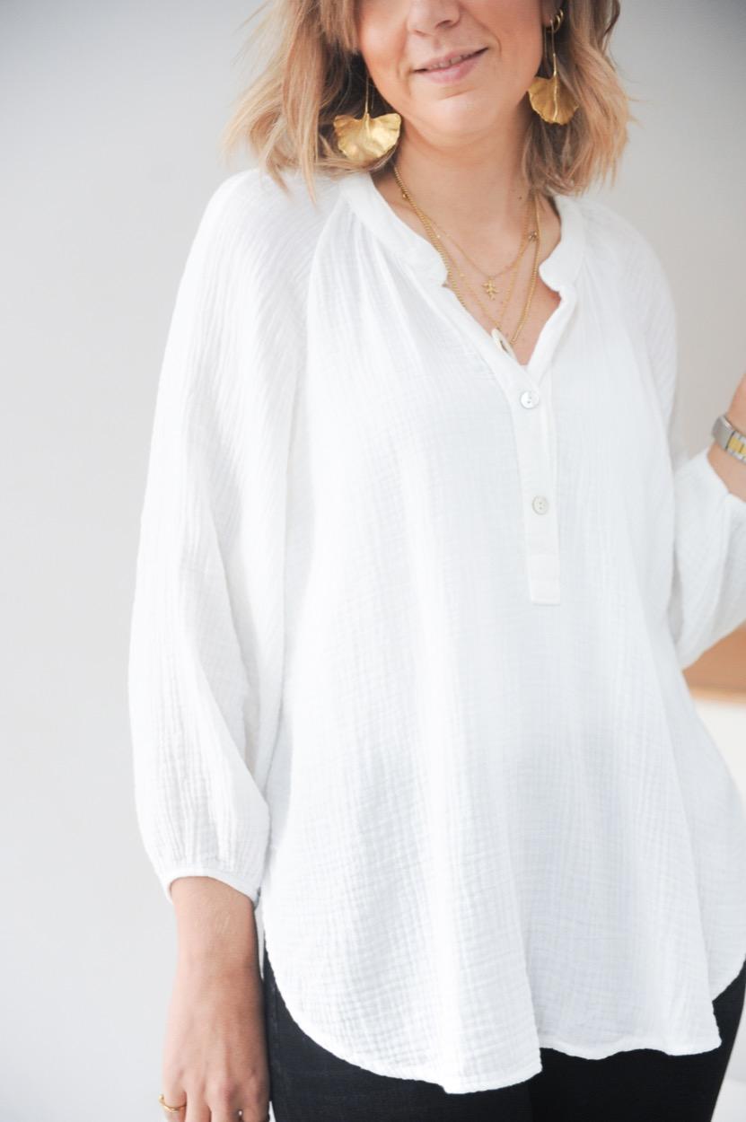 túnica branca