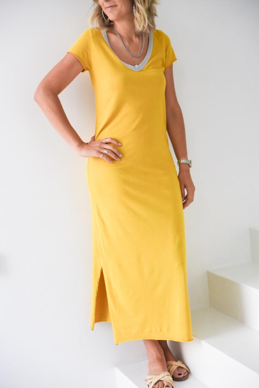 vestido decote brilho