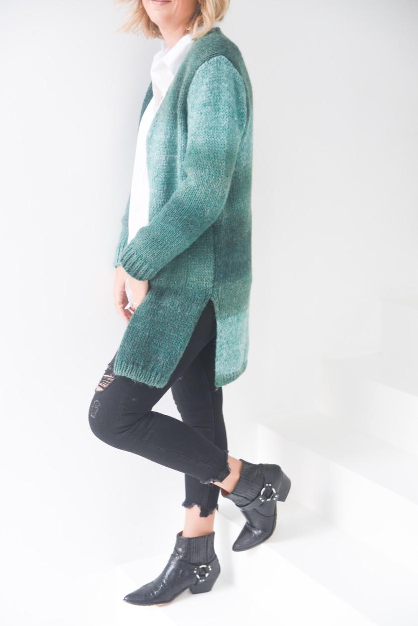casaco lã manchado