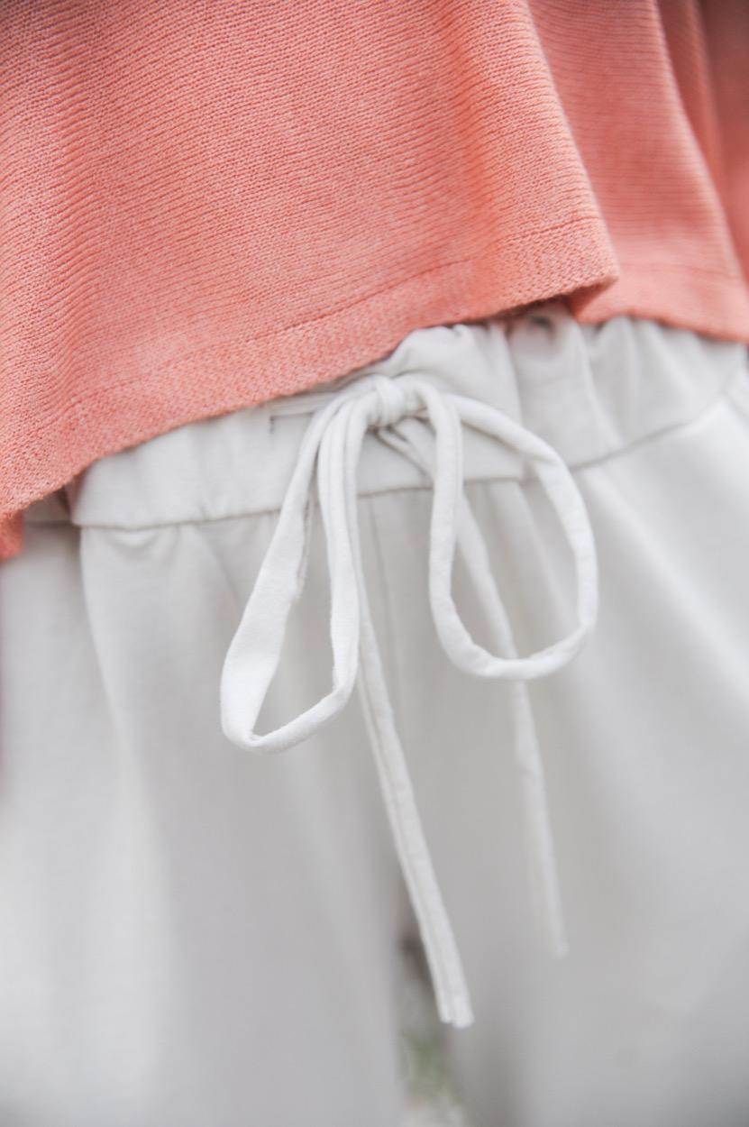 calças beges algodão