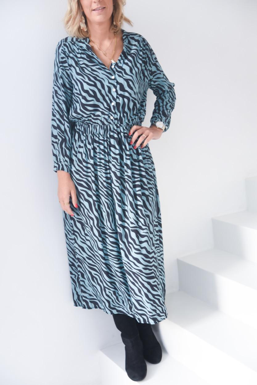 vestido zebra