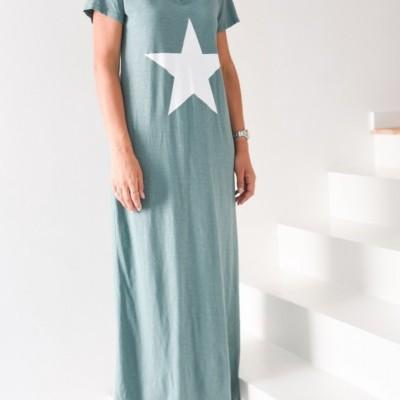 vestido verde estrela