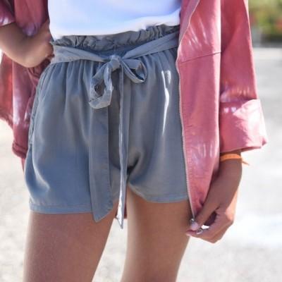 calções cinza chumbo