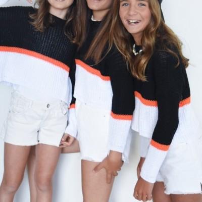 camisola linha 2 cores preto