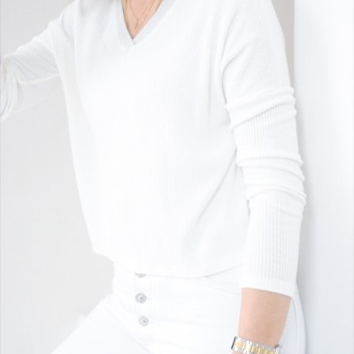 blusa decote v brilho