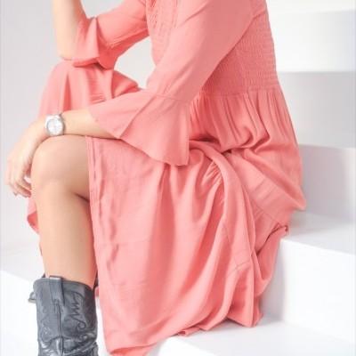 vestido elástico peito