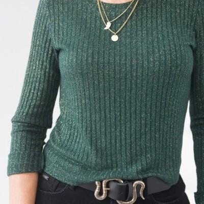 camisola verde & ouro