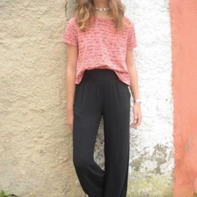 calças pretas elastico cintura