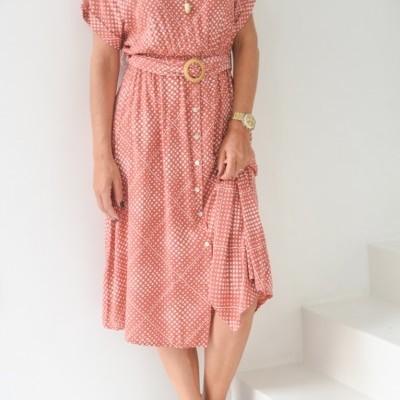 vestido cinto fivela rafia