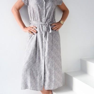 vestido comp cinza zebra