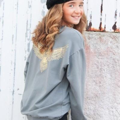 sweatshirt asas douradas