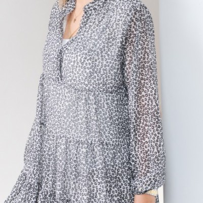vestido curto P&B