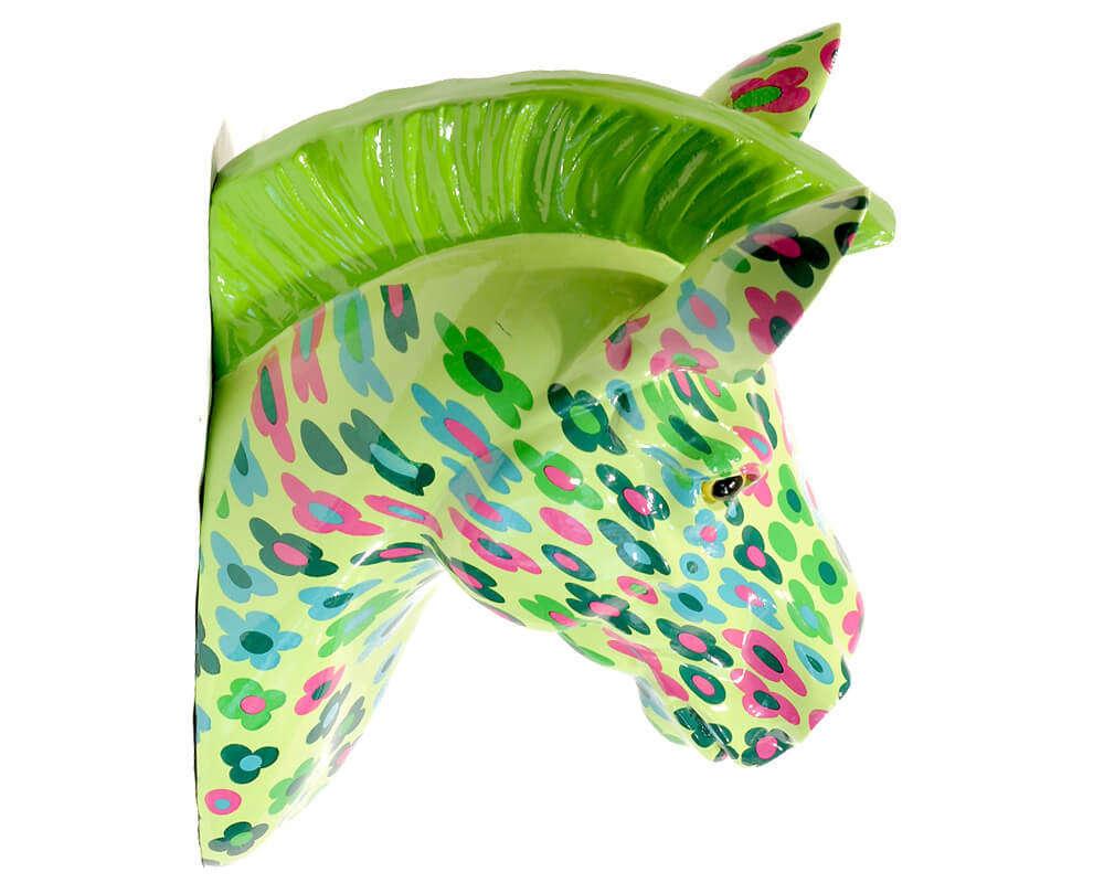 Wall Trophy Zebra Ziggy Floral Green - ANIWALL