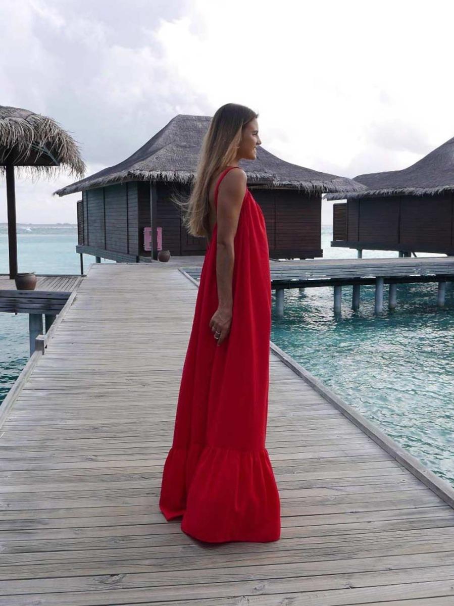 Vestido Comprido Vermelho Folho - KAOÂ