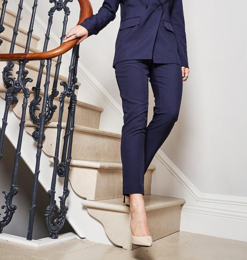 Navy Dynasty Trouser - NEVER FULLY DRESSED