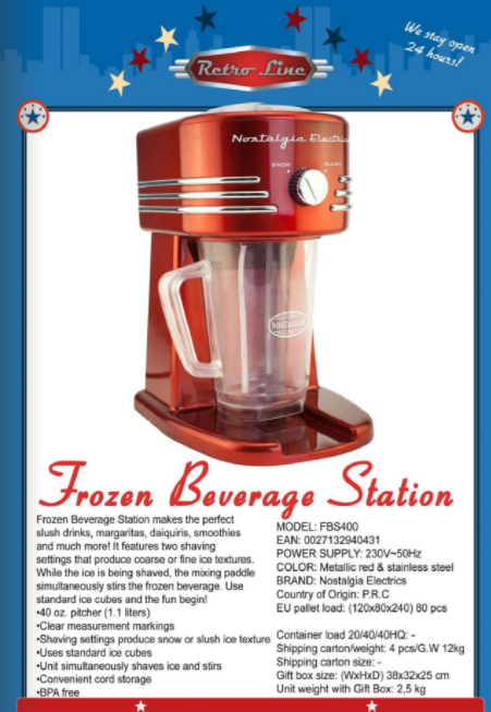 Frozen Beverage Station - Retro Line