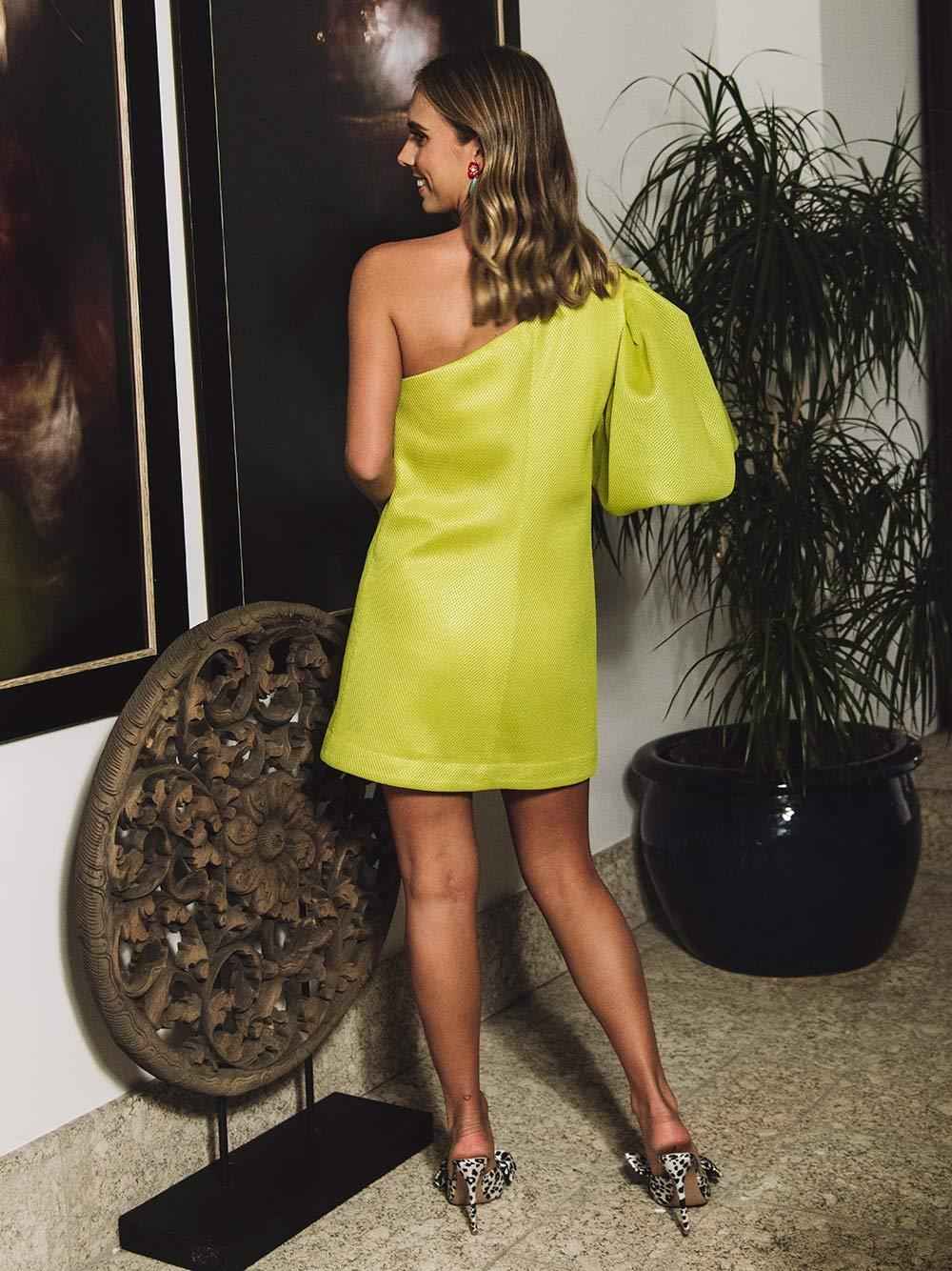 Vestido Verde Assimétrico - KAOÂ