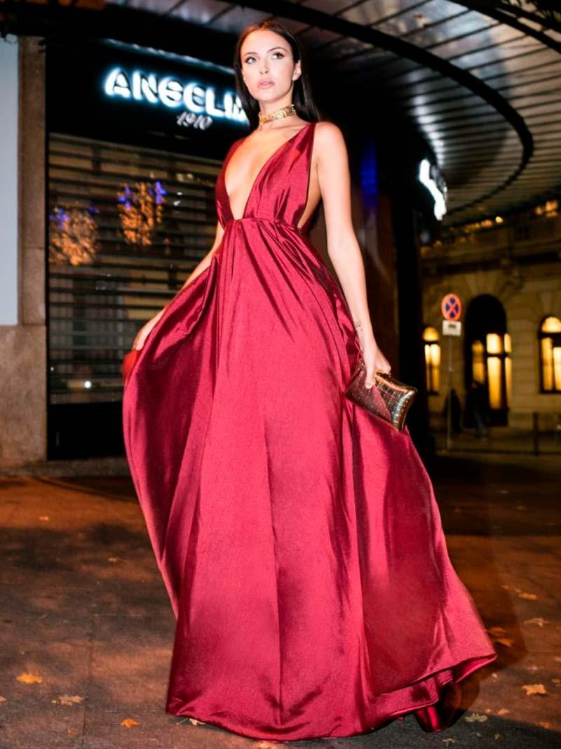 Vestido Comprido Bordeauxe - KAOÂ
