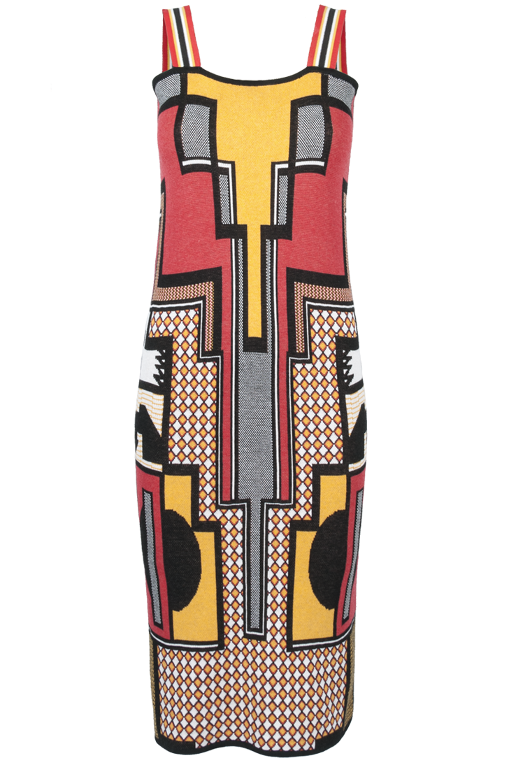 Knitwear Jacquard TUBE DRESS with Straps - SUSANA BETTENCOURT