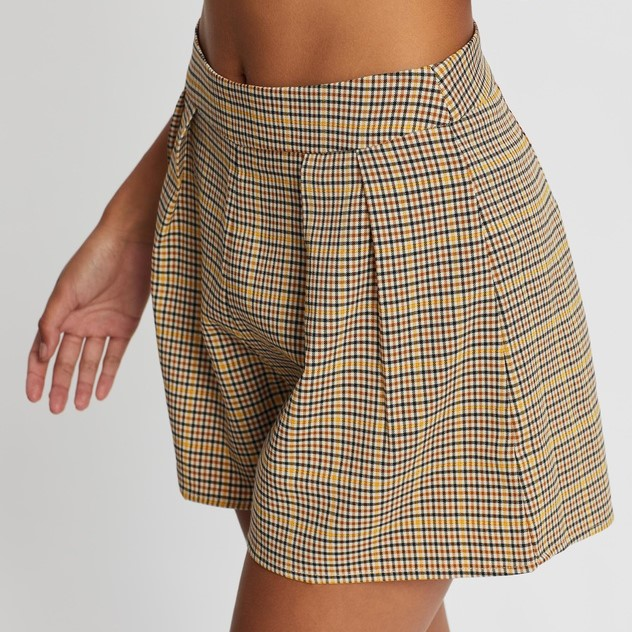 Dynasty Check Shorts - NEVER FULLY DRESSED