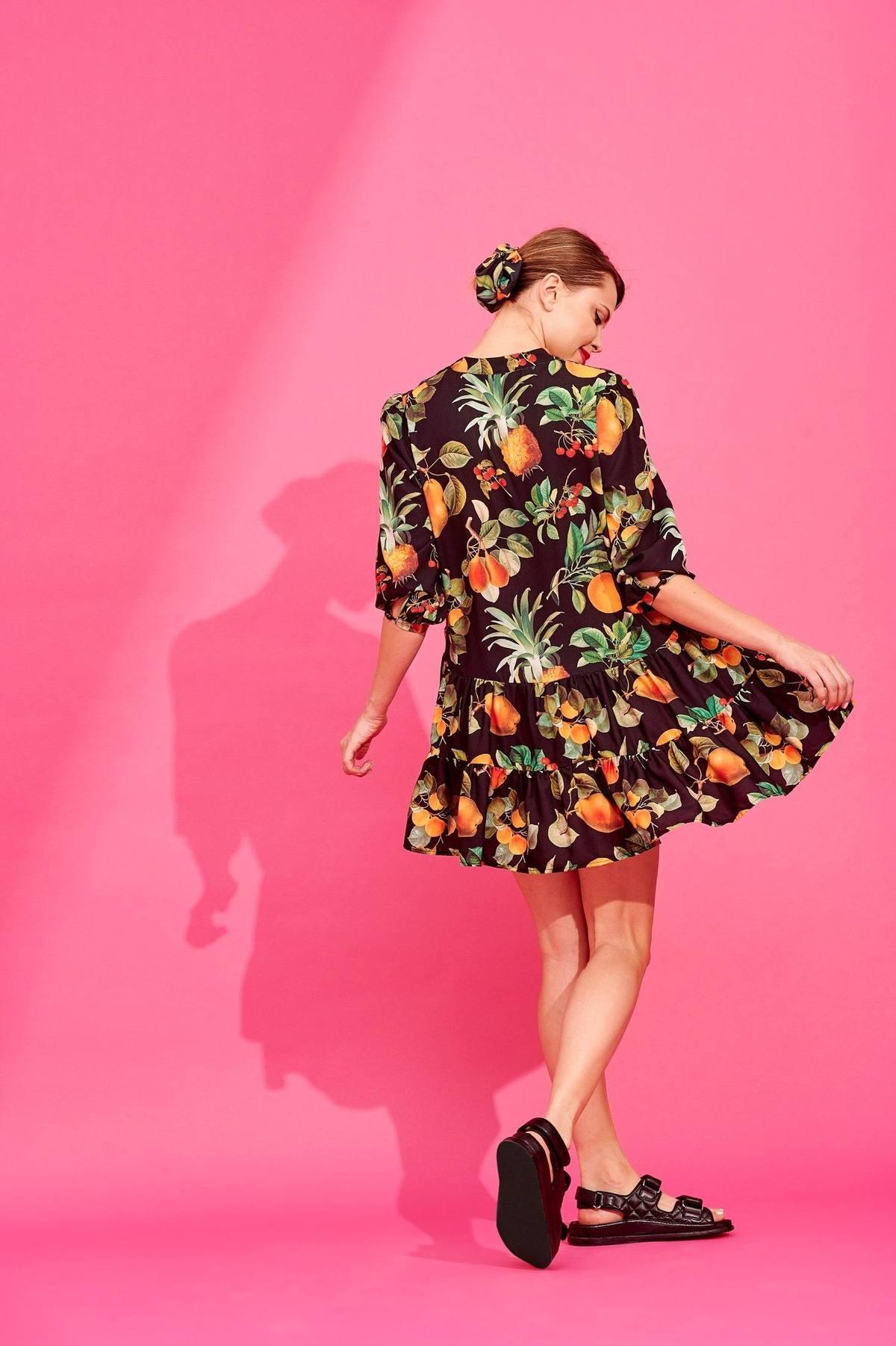 REBECCA DRESS (BLACK FRUIT) - KARAVAN CLOTHING