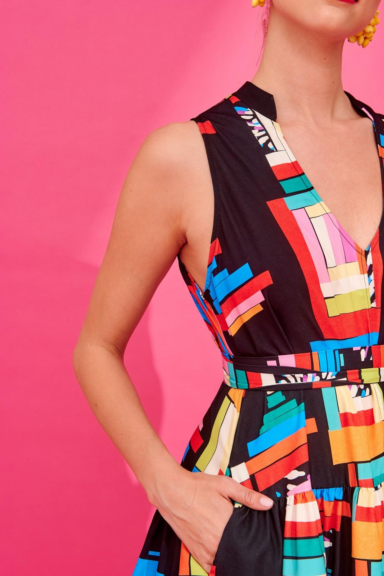 DENIZ DRESS (BLACK) - KARAVAN CLOTHING