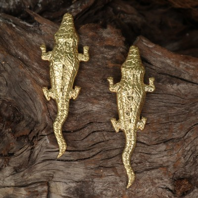 CROCODILE EARRINGS - NATIA X LAKO