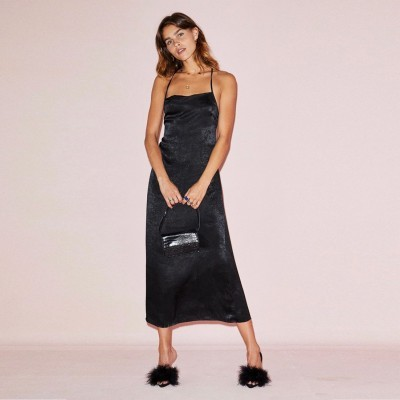 Black Maxi Kate Dress - NEVER FULLY DRESSED