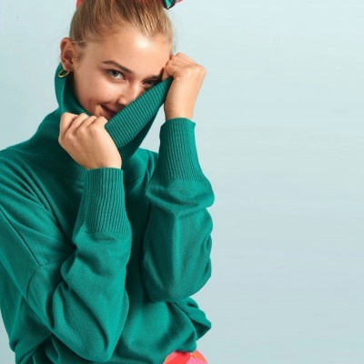 ELIN SWEATER (GREEN) - KARAVAN CLOTHING