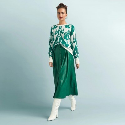 Hazel Skirt Green - KARAVAN