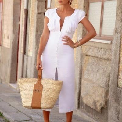 Vestido Branco De Linho - KAOÂ