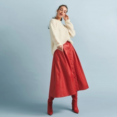 Hazel Skirt Red - KARAVAN