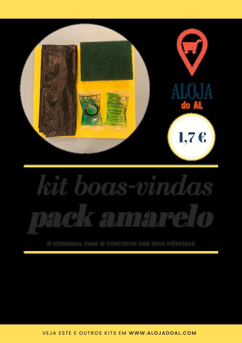 PACK AMARELO - Kit Boas-Vindas - Cozinha