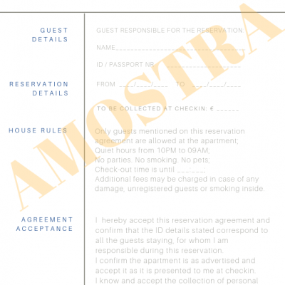 Reservation Agreement - Alojamento Local