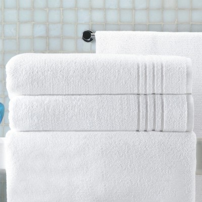 Toalha de banho branca Felpo Grão 500g singelo 70x140cm (lote de 3)