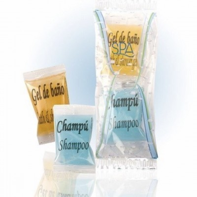 Saquetas Gel & Champô (200 x 2 unidades) A Loja do AL (PERSONALIZÁVEL)
